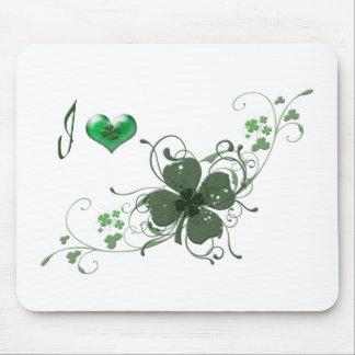 Love Shamrock digital art design Mouse Pad