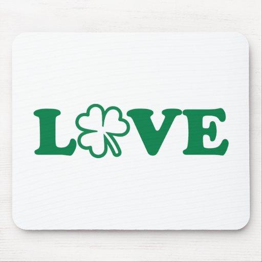 Love shamrock St. Patrick's day Mouse Pad