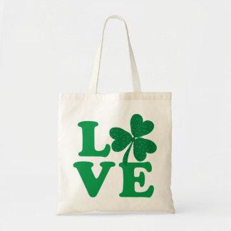 Love-Shamrock Tote Bag