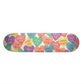Love Shape Background Skateboard