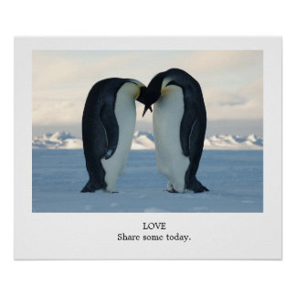 LOVE Share Some Today - Emperor Penguins Poster