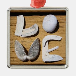 LOVE Shell Ornament