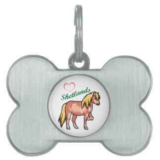 Love Shetland Ponies Pet Tag