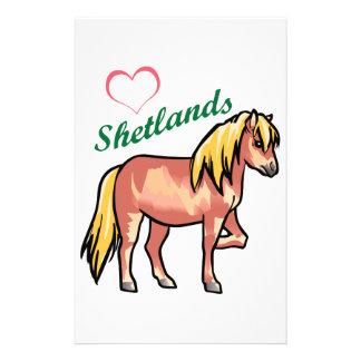 Love Shetland Ponies Stationery