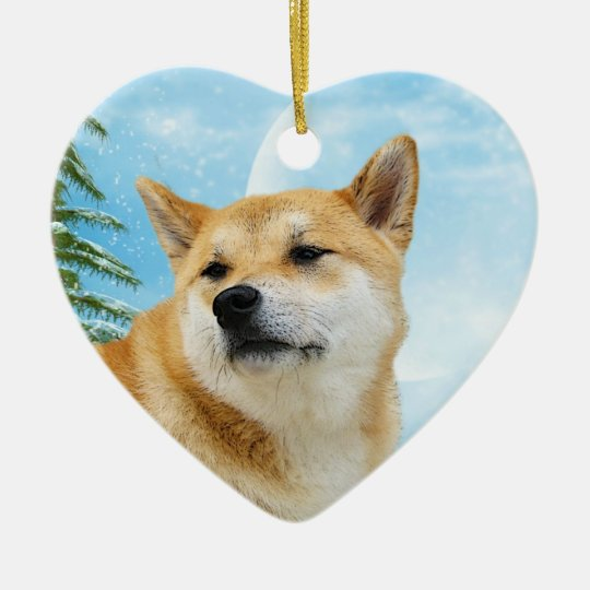 Love Shiba Inu Christmas Ornament - Love Shiba Inu Christmas Ornament Zazzle.com