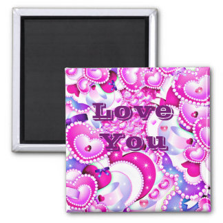 Love ,Shines_ 2 Inch Square Magnet