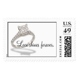 Love shines forever. postage stamp