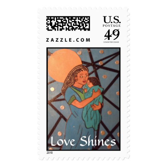 Love Shines Postage Stamp