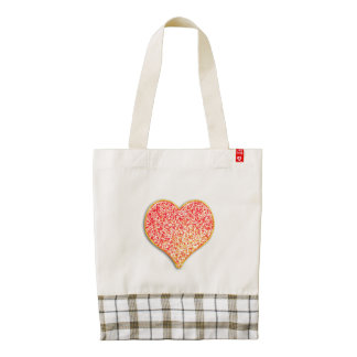 LOVE - Shiny Pink Gold - Custom Zazzle HEART Tote
