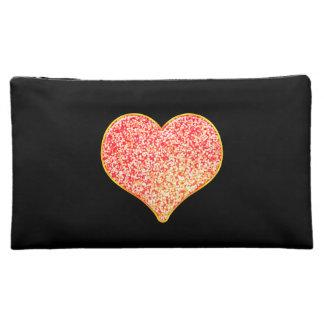 LOVE - Shiny Pink Gold - Medium Cosmetic Bag