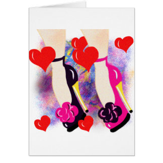 Love Shoes - Fun Lesbian Gifts &  Accessories Greeting Card