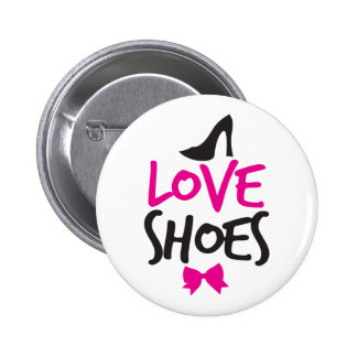Love Shoes with cute little bow Pinback Button