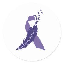 Love Shouldn't Hurt Domestic Violence Awareness Classic Round Sticker