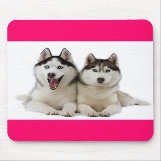 Love Siberian Husky Puppies Mousepad