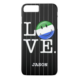Love Sierra Leone Smiling Flag iPhone 7 Plus Case