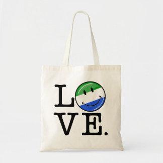 Love Sierra Leone Smiling Flag Tote Bag