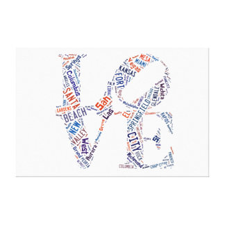 Love Sign American Cities Words Tags  Cloud