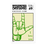 Love Sign (green) Postage