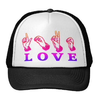 LOVE Sign Language - Hand Sign Tees, Gifts Trucker Hats