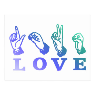 LOVE Sign Language - Hand Sign Tees, Gifts Postcard