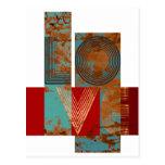 Love sign rusty retro design white post card