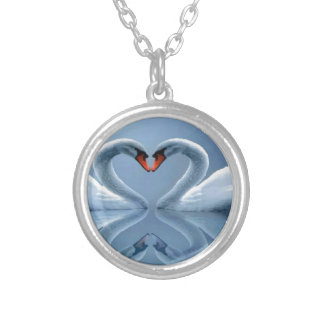 love silver plated necklace