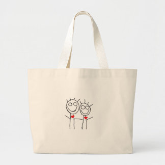 love.... simple yet adorable! large tote bag