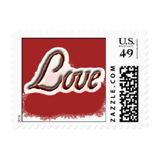 Love, Simply with red background Stamp