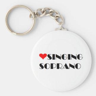 love singing soprano key chain
