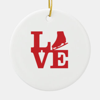 Love Skate Ceramic Ornament