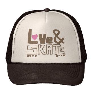 love&skate mesh hat