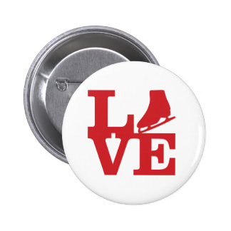 Love Skate Pinback Button
