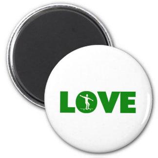 Love skateboarding 2 inch round magnet