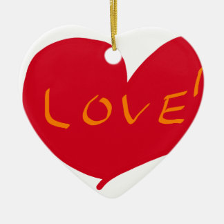 Love sketch ceramic ornament