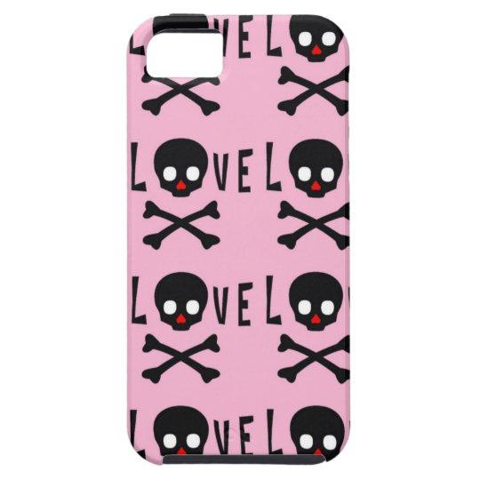 Love, Skull and Bones iphone 5 Case