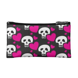 Love Skull Cosmetic Bag