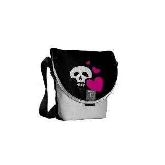 Love Skull Courier Bag