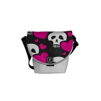Love Skull Pattern Messenger Bag