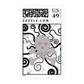 love skull postage stamps