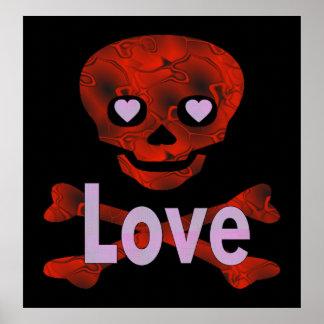 Love Skull Poster