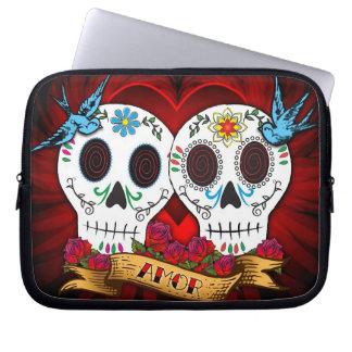 Love Skulls and Bluebirds Laptop Sleeve