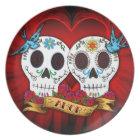Love Skulls and Bluebirds Plate