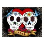 Love Skulls Day of the Dead Postcard