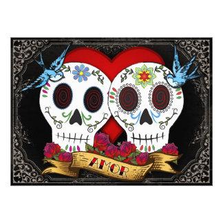 Love Skulls Invitation