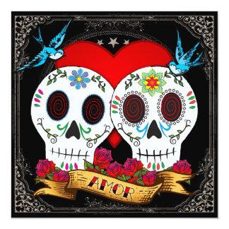 Love Skulls Square Invitation
