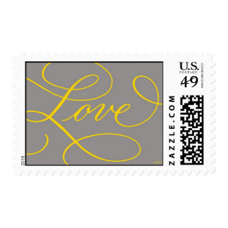 Love . Slate and Gold Postage
