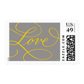 Love . Slate and Gold Postage Stamps