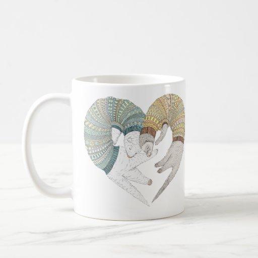Love sleep classic white coffee mug