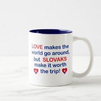 Love Slovaks Two-Tone Coffee Mug