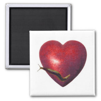 Love Slug 2 Inch Square Magnet